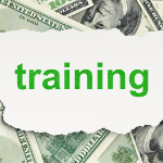 Education concept: Training on Money background